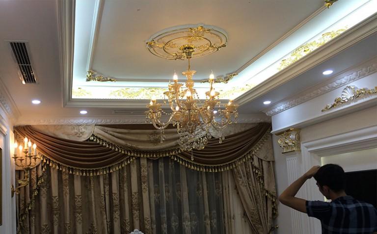 Chị Lan - Thi công phào chỉ PU chung cư Goldmax City