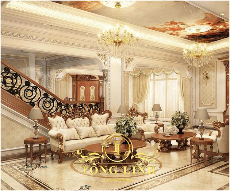 9+ mẫu thiết kế nội thất biệt thự tân cổ điển đẹp hoàn hảo