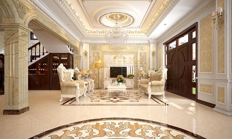 Thiết kế nội thất biệt thự cao cấp đúng chất quý tộc