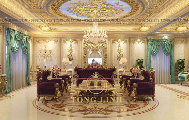 10+ mẫu thiết kế phòng khách tân cổ điển châu Âu đẹp tới kinh ngạc