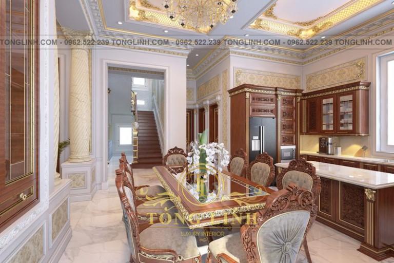 10+ mẫu thiết kế phòng bếp tân cổ điển châu Âu đẹp mãn nhãn