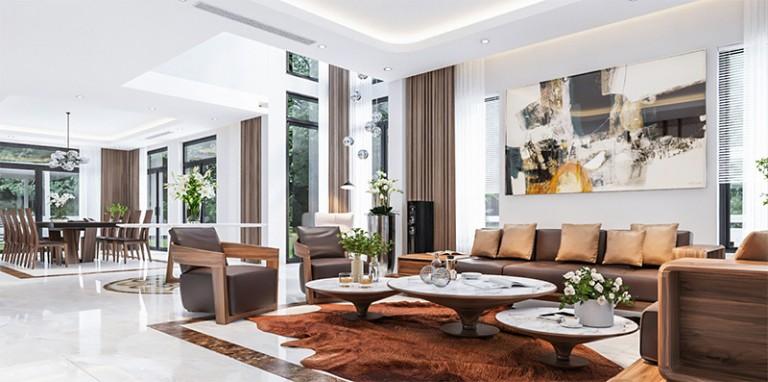 3 phong cách thiết kế nội thất biệt thự đỉnh cao được ưa chuộng