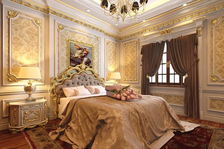 TOP 20+ mẫu thiết kế nội thất phòng ngủ tân cổ điển đẹp mê hồn
